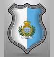 flag of san marino badge and icon vector image vector image