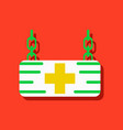 flat icon design collection medical sign in vector image vector image