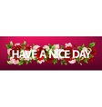 flowers with lettering have a nice vector image