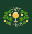glass of beer as a symbol of st patricks day vector image vector image