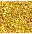 Glitter shiny gold seamless pattern vector image vector image