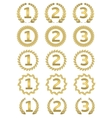 Golden award set vector image vector image