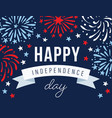 happy independence day 4th july national holiday vector image