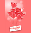 happy valentines day pink flying realistic vector image