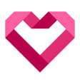 heart shape icon simple red valentine vector image