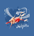 hungry mosquito flying vector image vector image