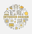 interior design colorful vector image