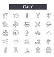 italy line icons signs set outline vector image vector image