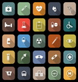 Medical flat icons with long shadow vector image vector image
