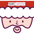 merry christmas celebration cute santa claus face vector image vector image