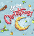 merry christmas seamless with vector image vector image