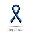 modern colored ribbon with the estonian tricolor vector image vector image