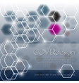 Modern cover with hexagons vector image