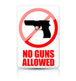 No guns allowed sign vector image