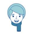 old woman face happy lady grandma cartoon vector image
