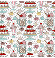 pattern with dessert vector image