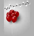 red balloon and light bulb with copy space vector image vector image