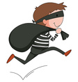 Robber vector image vector image