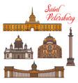 saint petersburg landmarks and buildings vector image