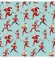 santa run pattern vector image vector image