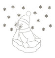 seal baon an ice floe coloring page vector image vector image