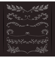 Set of elegant calligraphic foliate borders vector image vector image