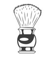 shaving brush isolated on vector image