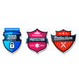 shield protection icons web security safety signs vector image