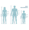 silhouttes of man women and boy in full length vector image