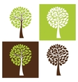 Simple tree set vector image
