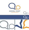 Social Media Chat Network Business Logo Concept vector image vector image