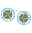 spool with tape from player vector image