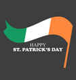st patricks day festive banner with irish flag on vector image vector image
