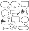 style speech bubble hand draw vector image vector image