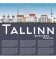 Tallinn Skyline with Gray Buildings Blue Sky vector image vector image