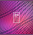 technology 3d waveform abstract background vector image vector image