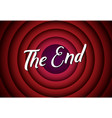 the end movie font comic poster circle cartoon vector image vector image