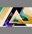triangular low poly background design vector image vector image