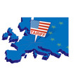 united states tariffs on europe as protectionist vector image