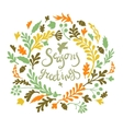 vignette of leaves vector image vector image