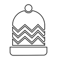 Winter hat icon outline style vector image vector image