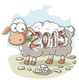 Year Of the Sheep 2015 Cartoon vector image vector image