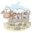 Year Of the Sheep 2015 Cartoon vector image