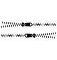 zipper closure clothing zipper closure vector image