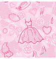 Fashion seamless pattern with accessories vector image