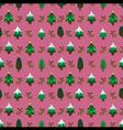 Christmas theme pinetree and reindeer seamless vector image