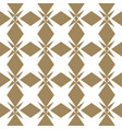 abstract geometric golden seamless floral pattern vector image vector image