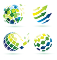 abstract globe icons vector image vector image