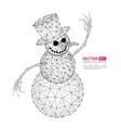 abstract polygonal snowman with texture starry vector image vector image
