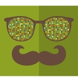 Abstract portrait of retro man in sunglasses with vector image vector image